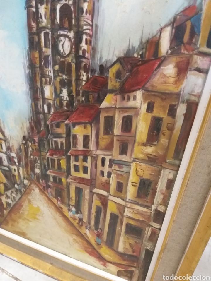 Arte: Antiguo cuadro con firma - Foto 2 - 138605190