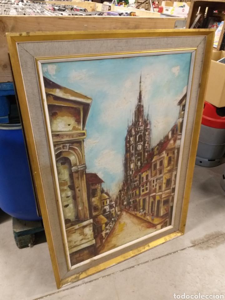 Arte: Antiguo cuadro con firma - Foto 4 - 138605190