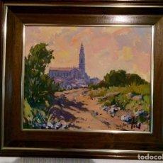 Arte: JOAN TORT OLIVER 1924-2006, CASTELLAR DEL VALLÈS, 46CM X 37CM, PAISAJE DE CASTELLAR. Lote 138657940