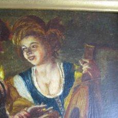 Kunst - PRECIOSA PINTURA AL OLEO ESCENA CHICA CON LAUD EN TABERNA S XVIII , FIRMADO ALFAGEME - 138664738