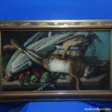 Arte: GRAN ÓLEO SOBRE TELA REENTELADO DE FEDERIC TRIADO I GIRO 1875.BODEGON.CALIDAD. . Lote 138681850