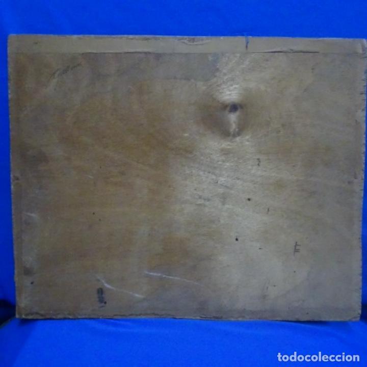 Arte: Óleo sobre tablex.firmado e. Gallemi.escuela catalana.puerto. - Foto 9 - 138708546