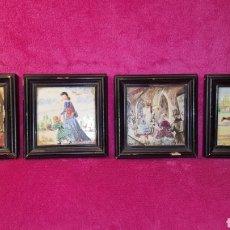 Arte: 4 PINTURAS SOBRE AZULEJO (DE LA FUENTE). Lote 138721098