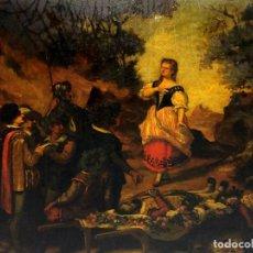 Kunst - AVENTURAS DE DON QUIJOTE. (2)ÓLEOS SOBRE PAPEL-CARTÓN. FIRMADOS. ESPAÑA. CIRCA 1869 - 138767534