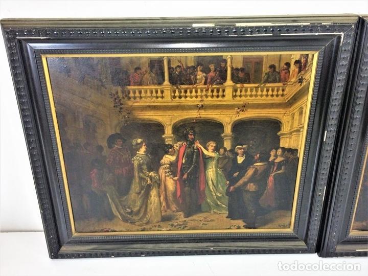 Arte: AVENTURAS DE DON QUIJOTE. (2)ÓLEOS SOBRE PAPEL-CARTÓN. FIRMADOS. ESPAÑA. CIRCA 1869 - Foto 4 - 138767534