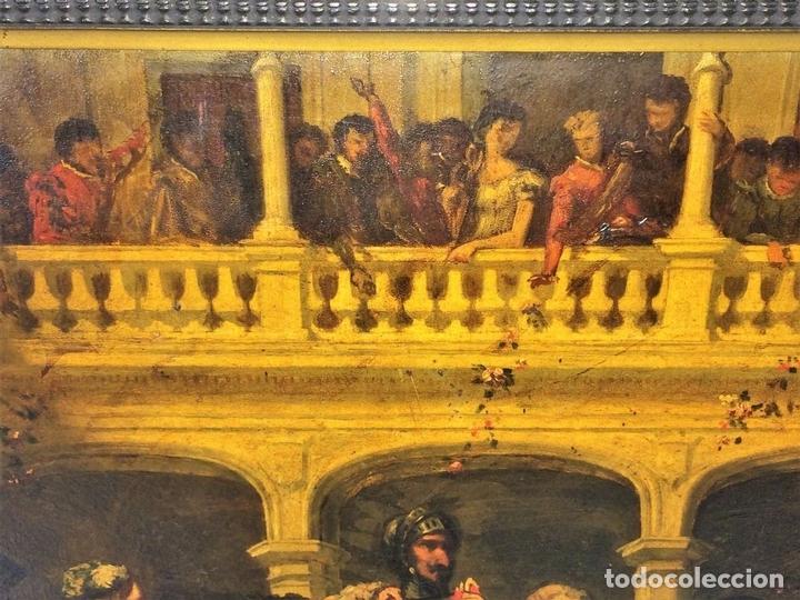 Arte: AVENTURAS DE DON QUIJOTE. (2)ÓLEOS SOBRE PAPEL-CARTÓN. FIRMADOS. ESPAÑA. CIRCA 1869 - Foto 5 - 138767534