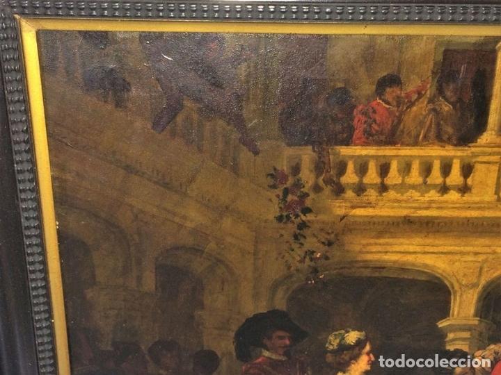 Arte: AVENTURAS DE DON QUIJOTE. (2)ÓLEOS SOBRE PAPEL-CARTÓN. FIRMADOS. ESPAÑA. CIRCA 1869 - Foto 6 - 138767534