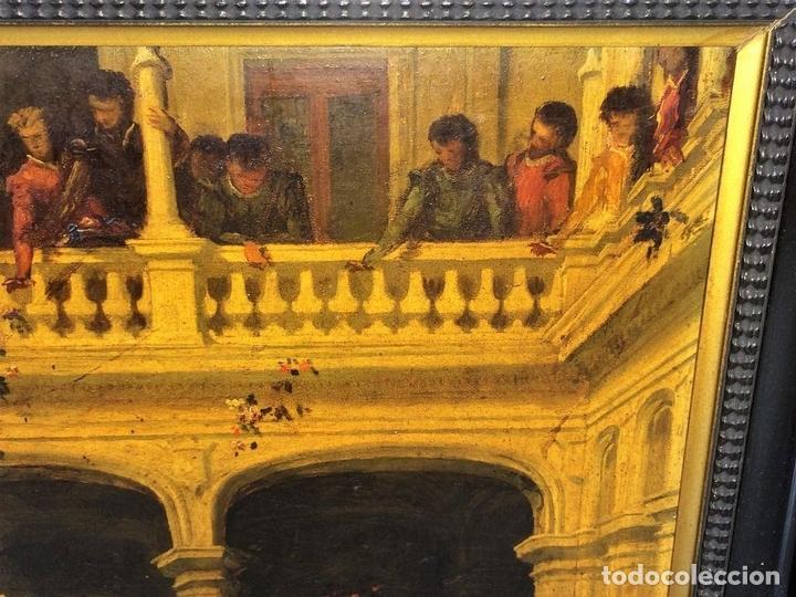 Arte: AVENTURAS DE DON QUIJOTE. (2)ÓLEOS SOBRE PAPEL-CARTÓN. FIRMADOS. ESPAÑA. CIRCA 1869 - Foto 7 - 138767534