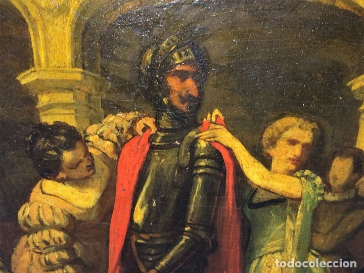 Arte: AVENTURAS DE DON QUIJOTE. (2)ÓLEOS SOBRE PAPEL-CARTÓN. FIRMADOS. ESPAÑA. CIRCA 1869 - Foto 8 - 138767534