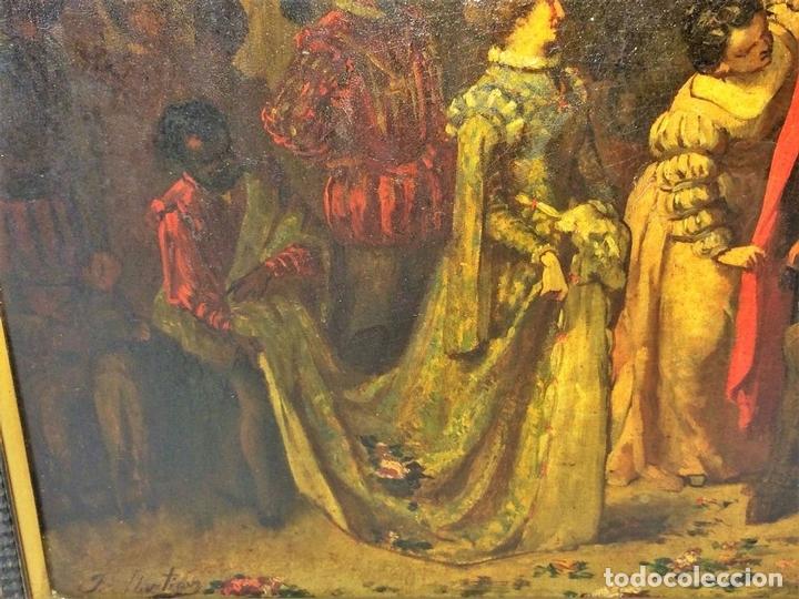 Arte: AVENTURAS DE DON QUIJOTE. (2)ÓLEOS SOBRE PAPEL-CARTÓN. FIRMADOS. ESPAÑA. CIRCA 1869 - Foto 9 - 138767534