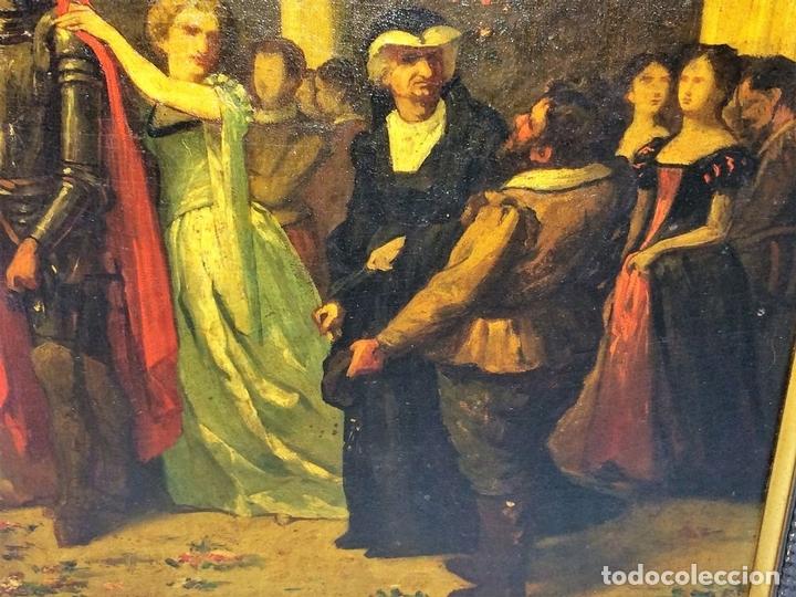 Arte: AVENTURAS DE DON QUIJOTE. (2)ÓLEOS SOBRE PAPEL-CARTÓN. FIRMADOS. ESPAÑA. CIRCA 1869 - Foto 10 - 138767534