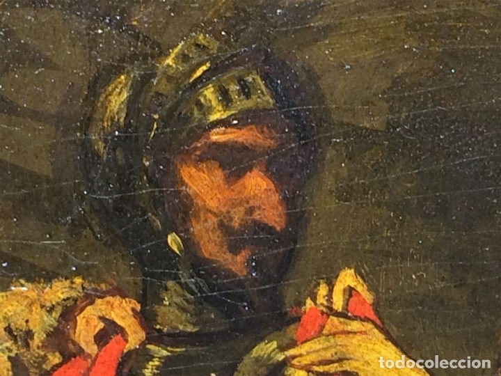Arte: AVENTURAS DE DON QUIJOTE. (2)ÓLEOS SOBRE PAPEL-CARTÓN. FIRMADOS. ESPAÑA. CIRCA 1869 - Foto 11 - 138767534