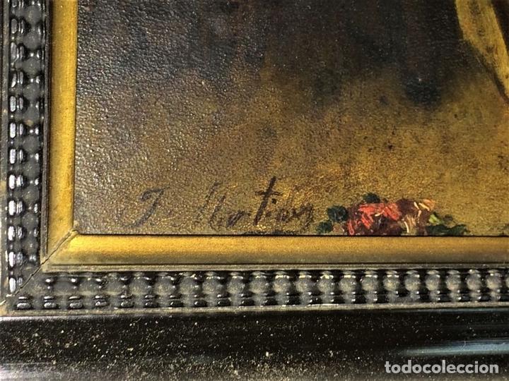Arte: AVENTURAS DE DON QUIJOTE. (2)ÓLEOS SOBRE PAPEL-CARTÓN. FIRMADOS. ESPAÑA. CIRCA 1869 - Foto 12 - 138767534