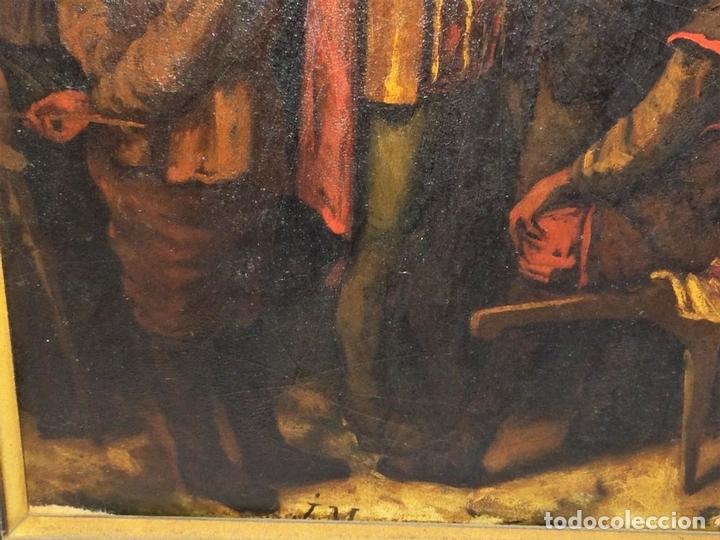 Arte: AVENTURAS DE DON QUIJOTE. (2)ÓLEOS SOBRE PAPEL-CARTÓN. FIRMADOS. ESPAÑA. CIRCA 1869 - Foto 15 - 138767534