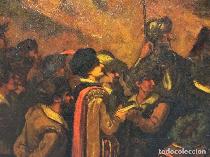 Arte: AVENTURAS DE DON QUIJOTE. (2)ÓLEOS SOBRE PAPEL-CARTÓN. FIRMADOS. ESPAÑA. CIRCA 1869 - Foto 16 - 138767534