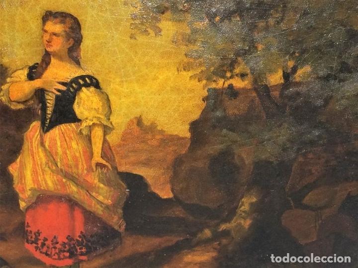 Arte: AVENTURAS DE DON QUIJOTE. (2)ÓLEOS SOBRE PAPEL-CARTÓN. FIRMADOS. ESPAÑA. CIRCA 1869 - Foto 17 - 138767534