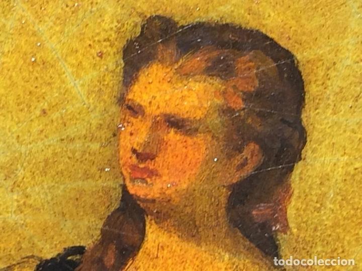 Arte: AVENTURAS DE DON QUIJOTE. (2)ÓLEOS SOBRE PAPEL-CARTÓN. FIRMADOS. ESPAÑA. CIRCA 1869 - Foto 20 - 138767534