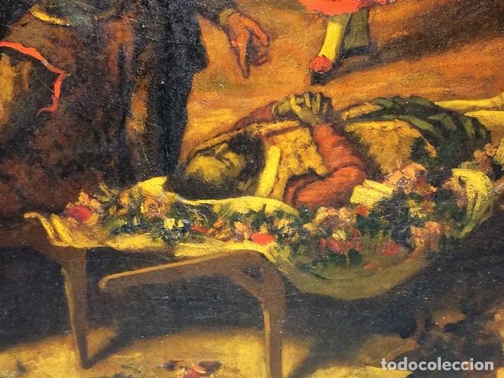 Arte: AVENTURAS DE DON QUIJOTE. (2)ÓLEOS SOBRE PAPEL-CARTÓN. FIRMADOS. ESPAÑA. CIRCA 1869 - Foto 23 - 138767534