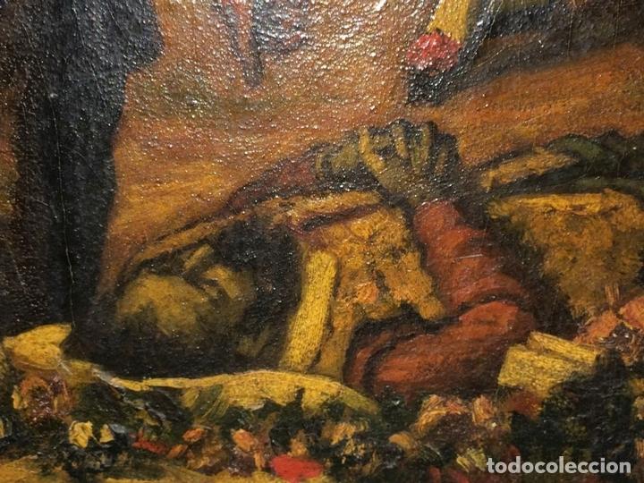 Arte: AVENTURAS DE DON QUIJOTE. (2)ÓLEOS SOBRE PAPEL-CARTÓN. FIRMADOS. ESPAÑA. CIRCA 1869 - Foto 24 - 138767534