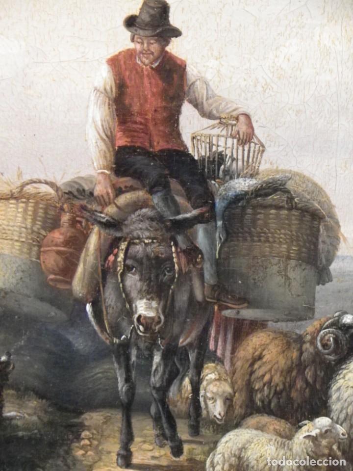 Arte: Paisaje con figuras escuela holandesa s-XVIII-XIX - Foto 18 - 138864918