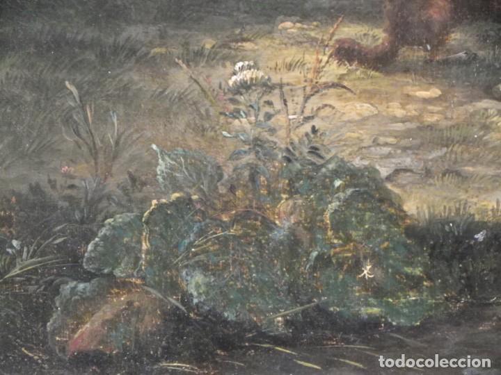Arte: Paisaje con figuras escuela holandesa s-XVIII-XIX - Foto 19 - 138864918