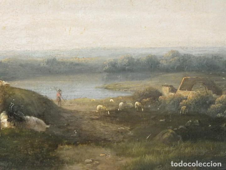 Arte: Paisaje con figuras escuela holandesa s-XVIII-XIX - Foto 24 - 138864918
