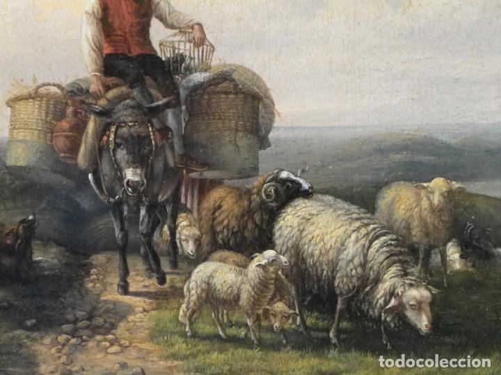 Arte: Paisaje con figuras escuela holandesa s-XVIII-XIX - Foto 26 - 138864918