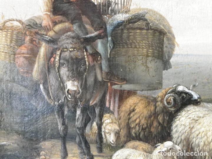 Arte: Paisaje con figuras escuela holandesa s-XVIII-XIX - Foto 31 - 138864918