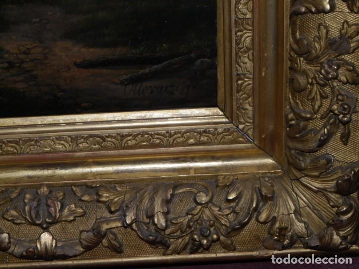 Arte: Paisaje con figuras escuela holandesa s-XVIII-XIX - Foto 34 - 138864918