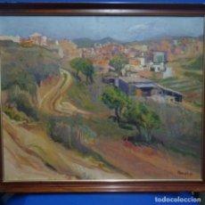 Arte: ÓLEO SOBRE TELA DE JAUME VILARUPLA ROLDOS(MATARO1952).PUEBLO POR DETERMINAR.1979.. Lote 138865314
