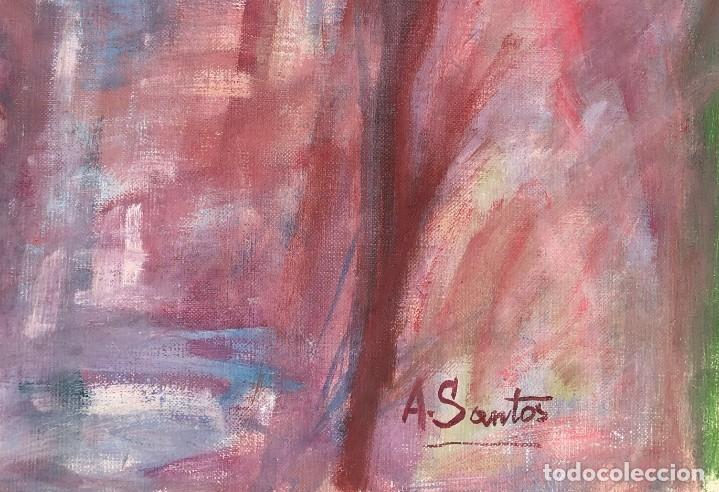 Arte: Angeles Santos Torroella - Figura en el jardín - Óleo lienzo - Foto 4 - 138871069