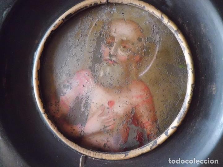 MINIATURA SAN PABLO EN COBRE SIGLO XVIII (Arte - Pintura - Pintura al Óleo Antigua siglo XVIII)
