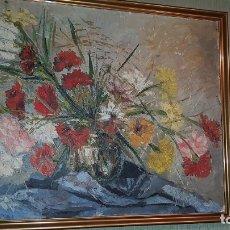 Arte: CUADRO OLEO PINTOR LEONES MANUEL DIEZ ROLLAN ( DALI ). Lote 105125963