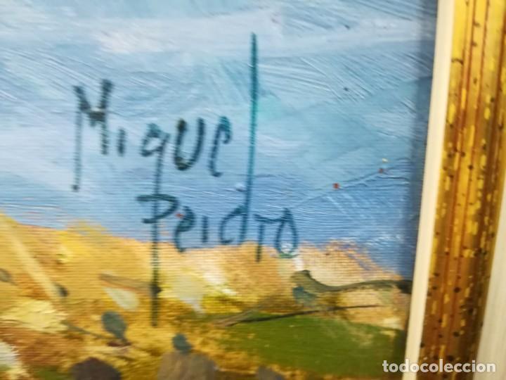 Arte: PAISAJE IMPRESIONISTA DEL GENIAL MIGUEL PEIDRO DE 61xx50 Y CON MARCO 86x75 - Foto 4 - 138901302
