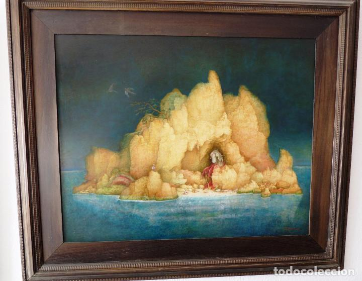 PAISAJE DE LA SOLEDAD. - JOSE GANFORNINA MORENO- 1984- OLEO SOBRE TABLA- (Arte - Pintura - Pintura al Óleo Contemporánea )