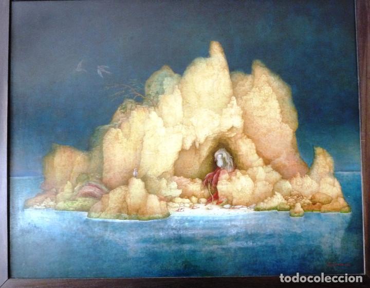 Arte: PAISAJE DE LA SOLEDAD. - JOSE GANFORNINA MORENO- 1984- OLEO SOBRE TABLA- - Foto 2 - 138908998