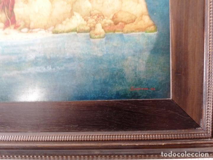 Arte: PAISAJE DE LA SOLEDAD. - JOSE GANFORNINA MORENO- 1984- OLEO SOBRE TABLA- - Foto 3 - 138908998
