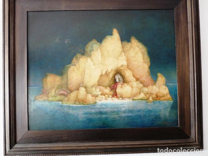 Arte: PAISAJE DE LA SOLEDAD. - JOSE GANFORNINA MORENO- 1984- OLEO SOBRE TABLA- - Foto 5 - 138908998
