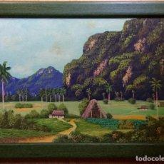 Arte: ÓLEO CON PAISAJE TITULADO MOGOTES FIRMADO. Lote 138955794