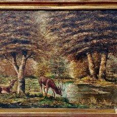 Arte: ÓLEO QUIMET SABATE CASANOVA . 200 X 100 CM. TÍTULO: PAISAJE DE LIBERTAD. Lote 138976850