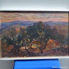 Arte: ÓLEO SOBRE TELA DE LLUÍS RULL GALOFRE(LLEIDA 1909).VIVIO EN TERRASSA.DEDICADO AL PINTOR RAMON CORTES. Lote 138979206