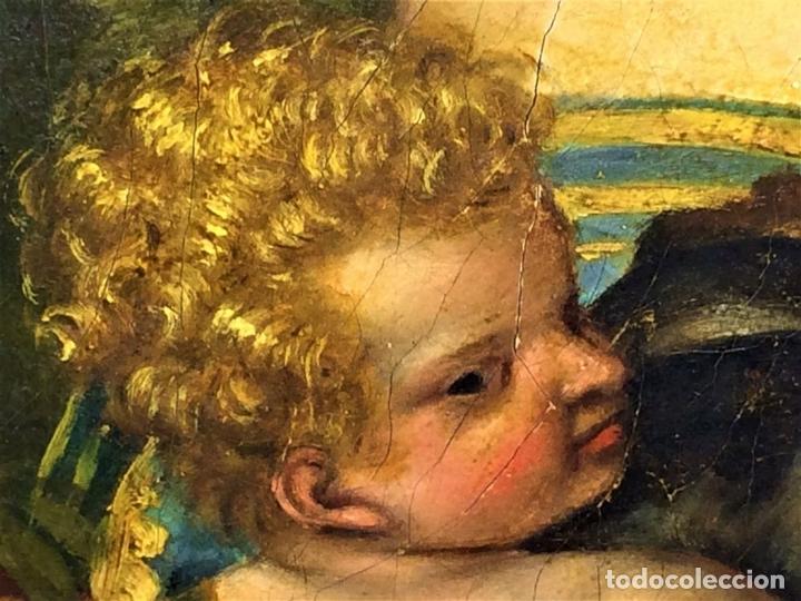 Arte: VENUS Y ADONIS. ÓLEO SOBRE LIENZO. COPIA DE UN ORIGINAL DEL VERONÉS. ITALIA(?). XVII(?) - Foto 12 - 139052886