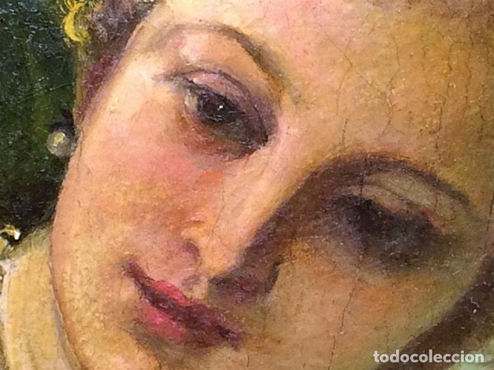 Arte: VENUS Y ADONIS. ÓLEO SOBRE LIENZO. COPIA DE UN ORIGINAL DEL VERONÉS. ITALIA(?). XVII(?) - Foto 14 - 139052886