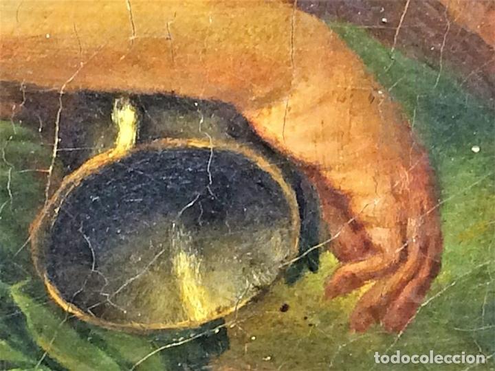 Arte: VENUS Y ADONIS. ÓLEO SOBRE LIENZO. COPIA DE UN ORIGINAL DEL VERONÉS. ITALIA(?). XVII(?) - Foto 17 - 139052886