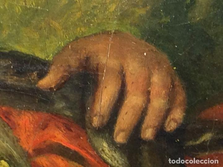Arte: VENUS Y ADONIS. ÓLEO SOBRE LIENZO. COPIA DE UN ORIGINAL DEL VERONÉS. ITALIA(?). XVII(?) - Foto 19 - 139052886