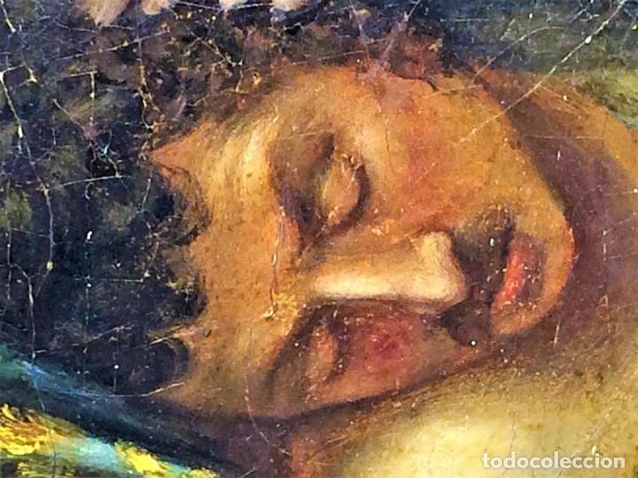 Arte: VENUS Y ADONIS. ÓLEO SOBRE LIENZO. COPIA DE UN ORIGINAL DEL VERONÉS. ITALIA(?). XVII(?) - Foto 21 - 139052886