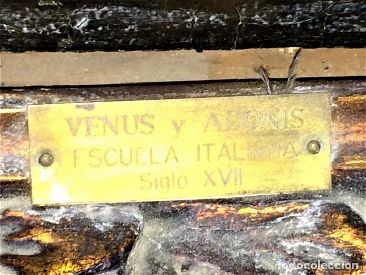 Arte: VENUS Y ADONIS. ÓLEO SOBRE LIENZO. COPIA DE UN ORIGINAL DEL VERONÉS. ITALIA(?). XVII(?) - Foto 22 - 139052886