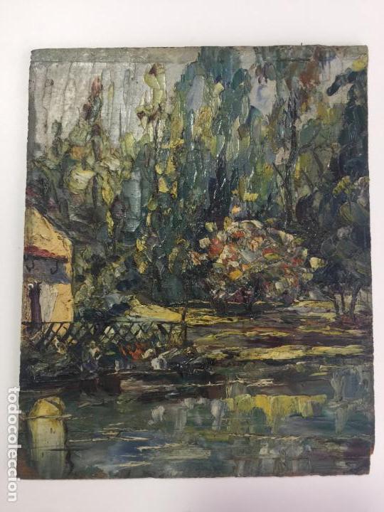 ÓLEO SOBRE TABLA , FIRMADO , PAISAJE (Arte - Pintura - Pintura al Óleo Contemporánea )
