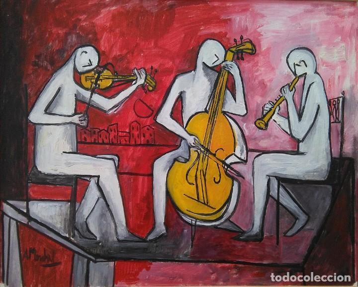ANTOLÍN MONTIEL.OLEO SOBRE CARTÓN (Arte - Pintura - Pintura al Óleo Contemporánea )