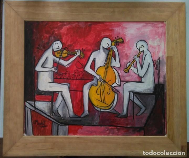 Arte: Antolín MONTIEL.Oleo sobre cartón - Foto 4 - 139122890